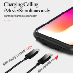 Rocky Life Audio Case iPhone XS Max dubbel lightning